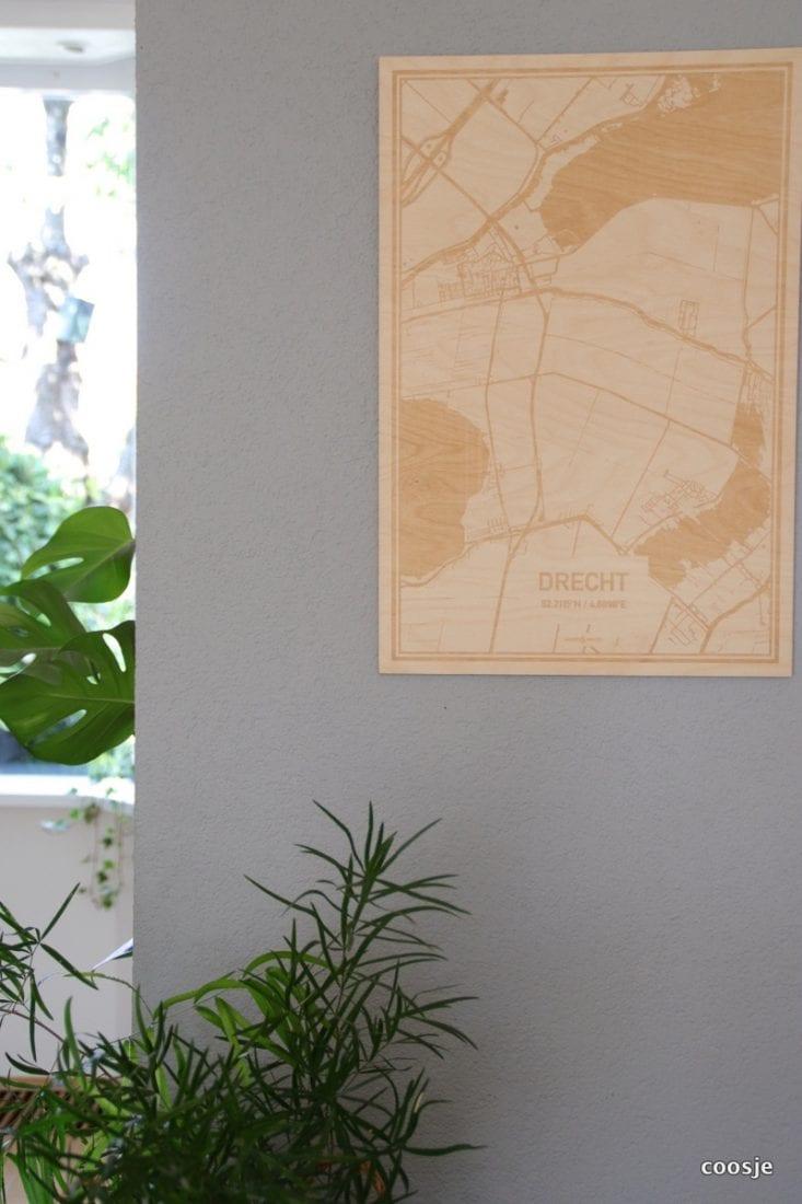 houten landkaart